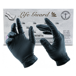 LifeGuard Food Gloves - BLACK (5 mil)