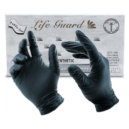 Black LifeGuard Nitrile Food Gloves - Medium