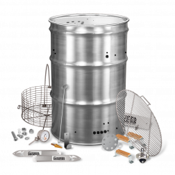 BPS Pre-drilled SS Drum Smoker Kit