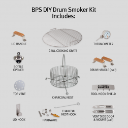 Big Poppa's DIY Drum Smoker Kit