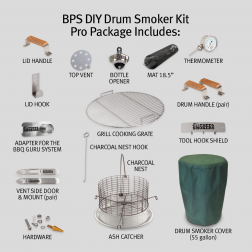 BPS DIY Drum Smoker Kit - Pro Package