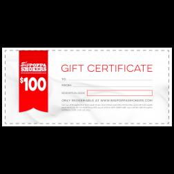 BPS GIFT CERTIFICATE - $100