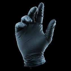 Black LifeGuard Nitrile Food Gloves  - Large