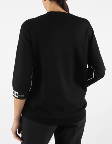 Maglia nera Elisabetta Franchi   MK18S16E2685
