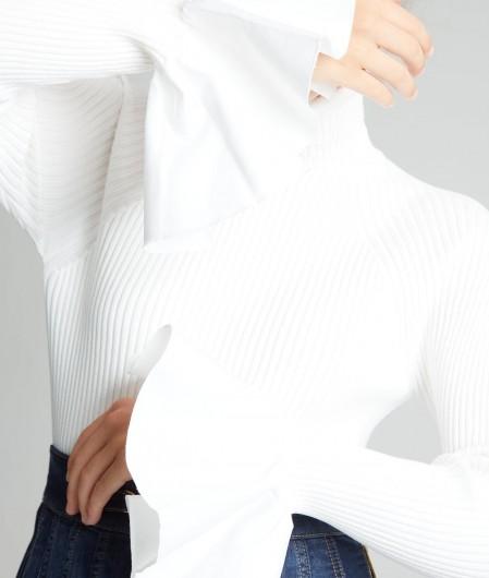 Maglia donna avorio Elisabetta Franchi | MK40T16E2360