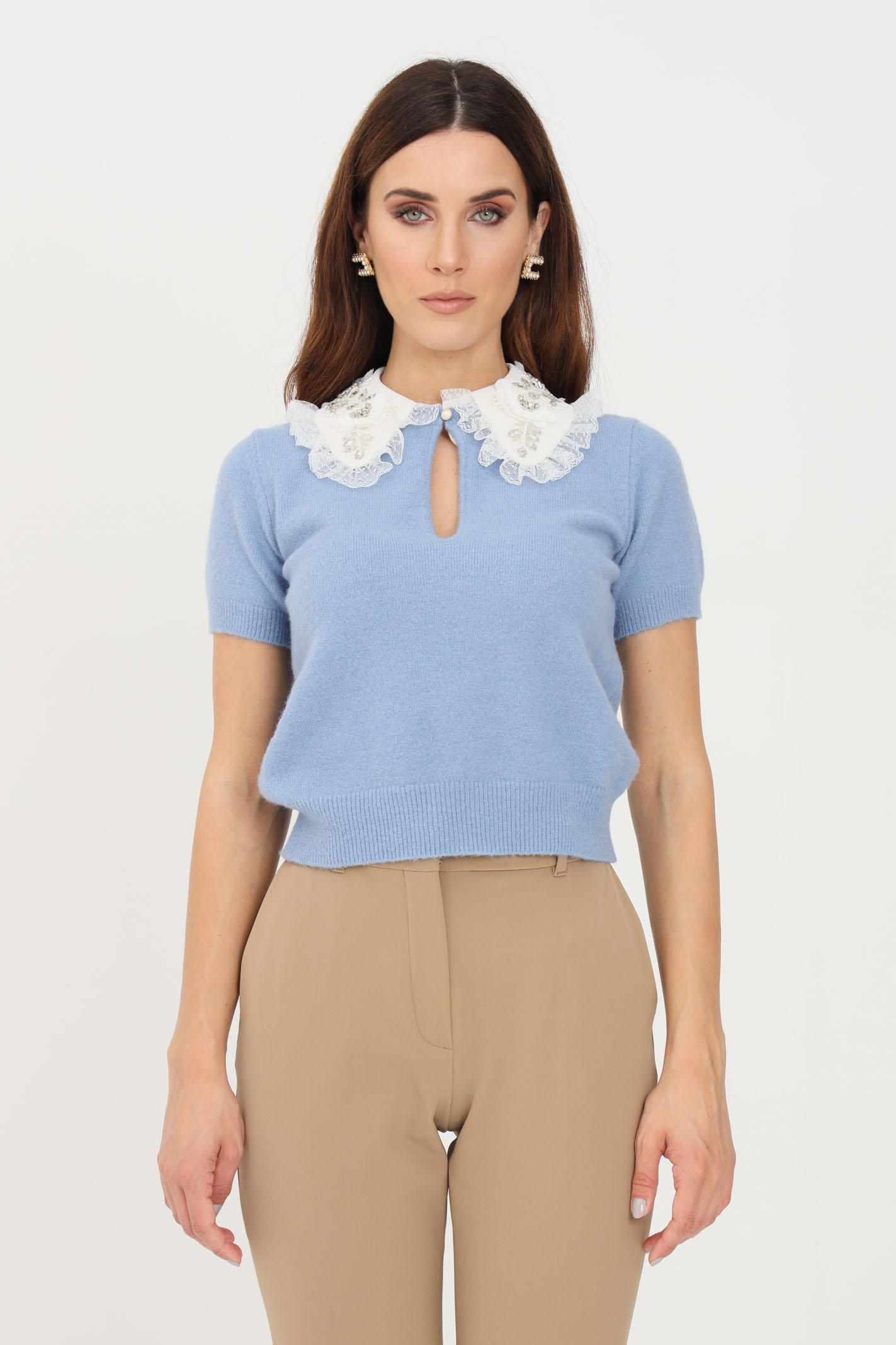 Maglia donna baby blue Elisabetta Franchi | MK47T16E2Q80