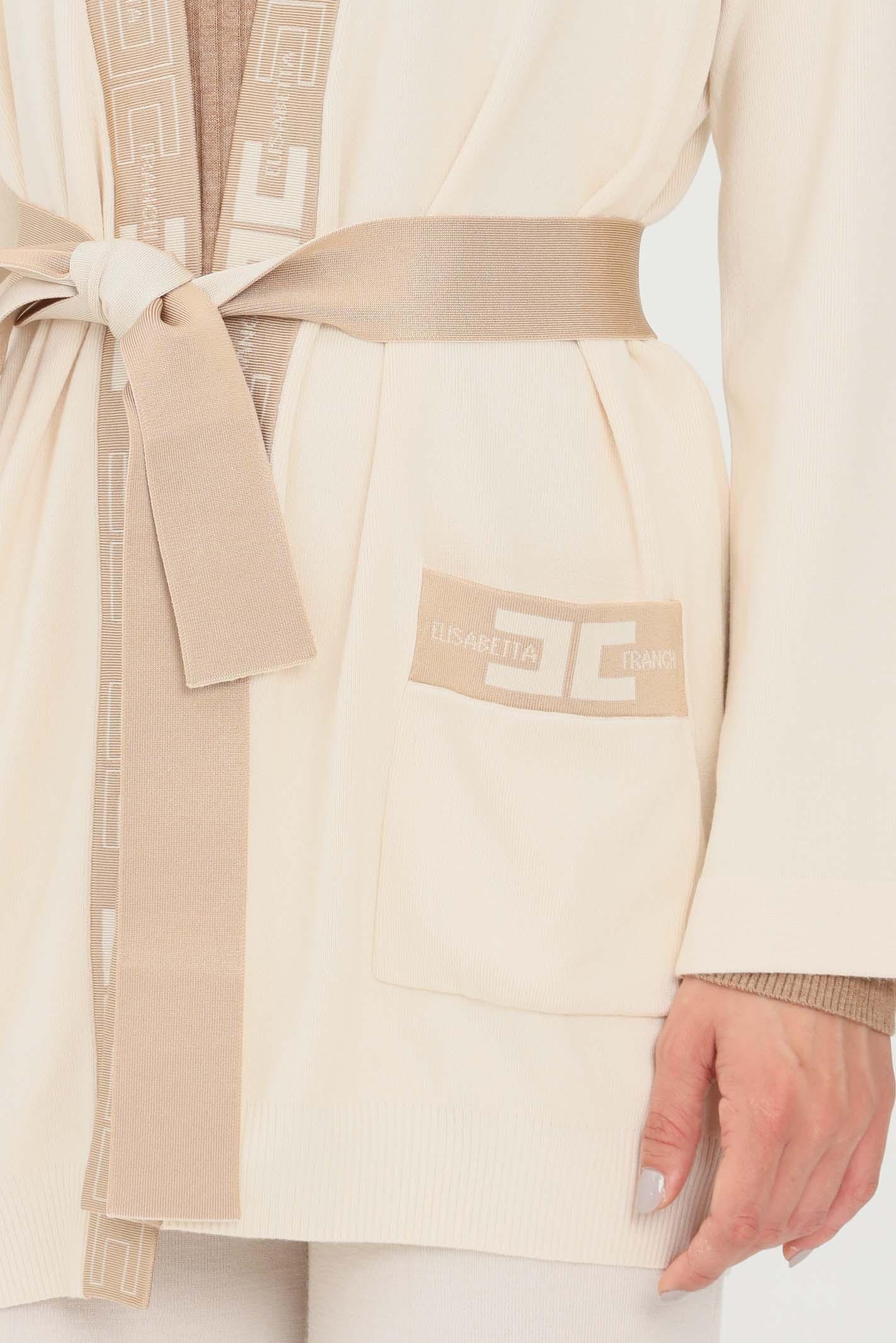 Cardigan donna a vestaglia Elisabetta Franchi   MK53S16E2U69