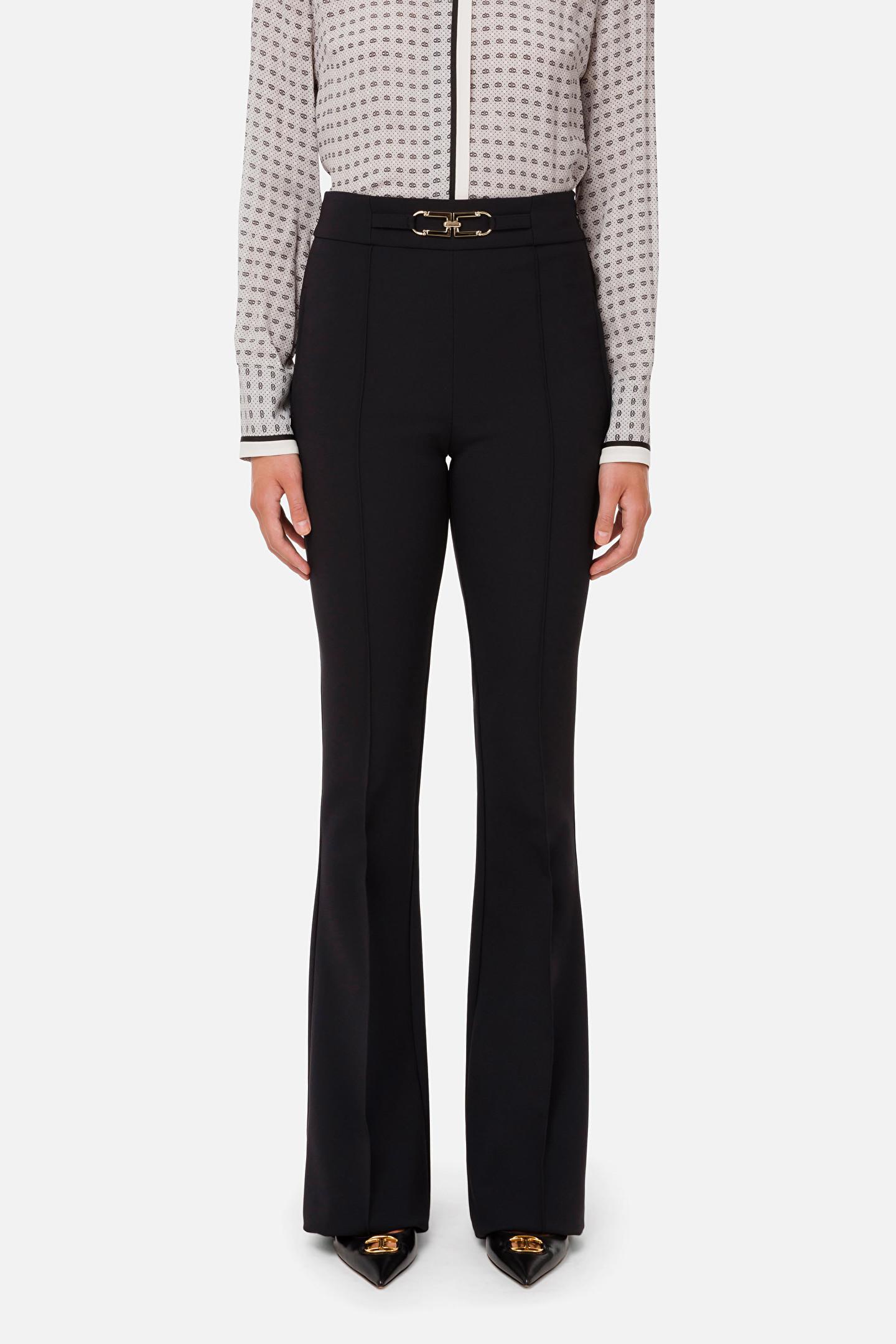 Pantalone donna nero skinny Elisabetta Franchi   PA38716E2110