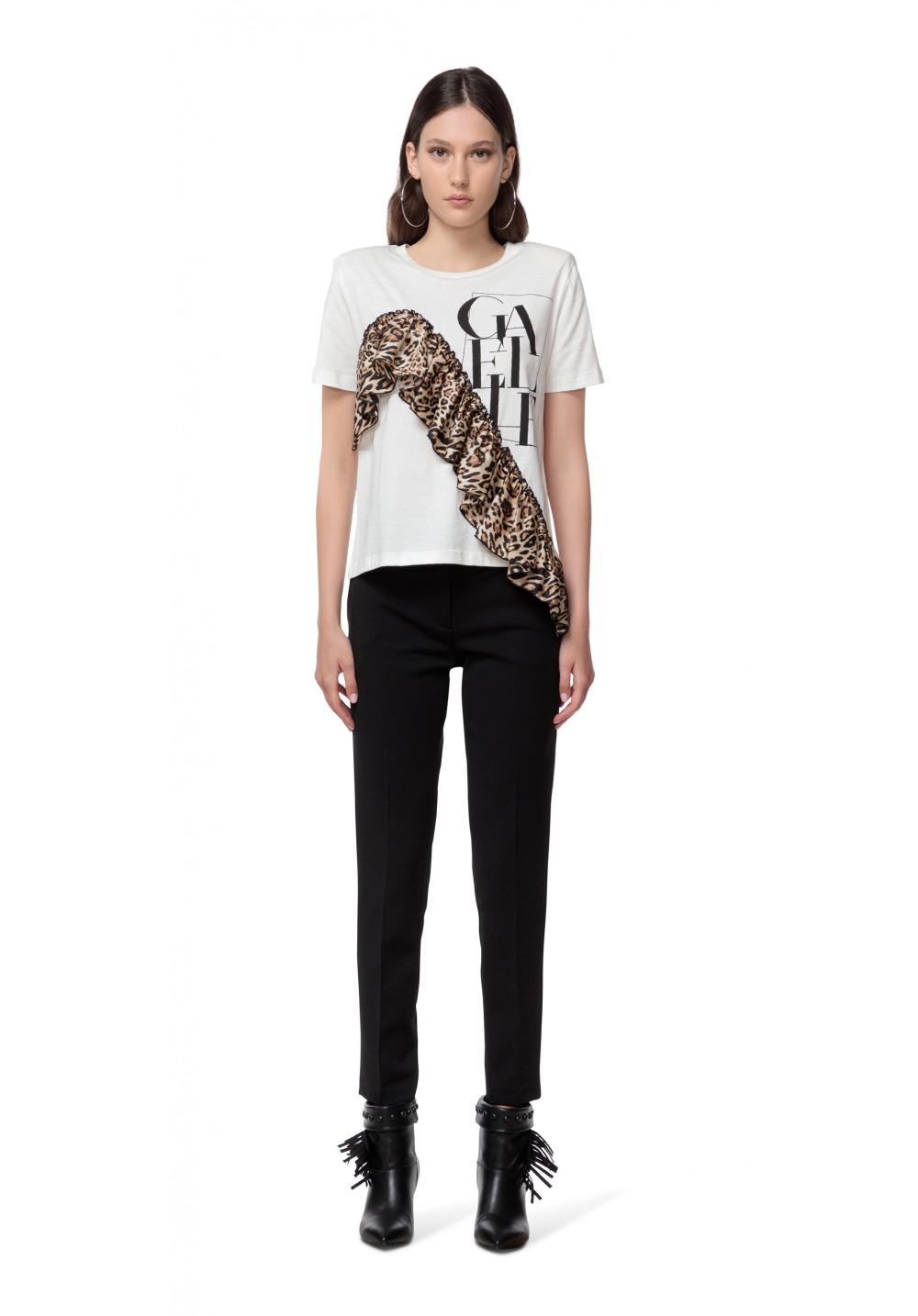 T-shirt donna bianca Gaelle | GBD10098BIANCO