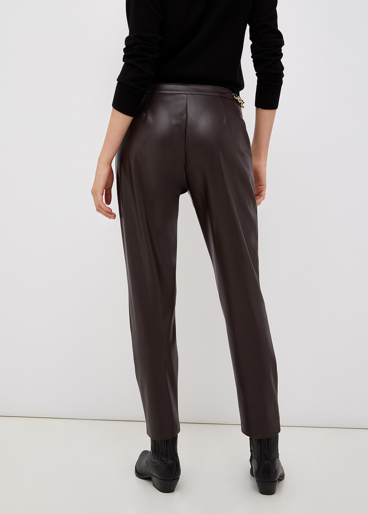 Pantalone donna color cioccolato Liu Jo   CF1011E0641X0385