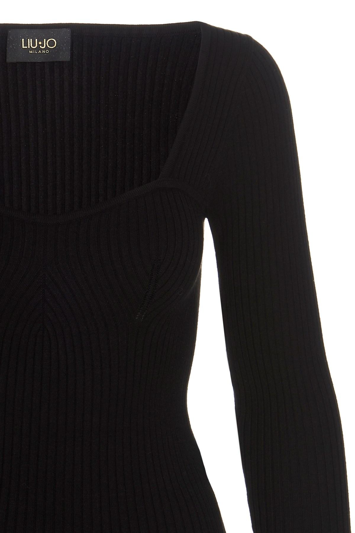 Maglia donna nera a maniche lunghe Liu Jo | CF1288MA99E22222