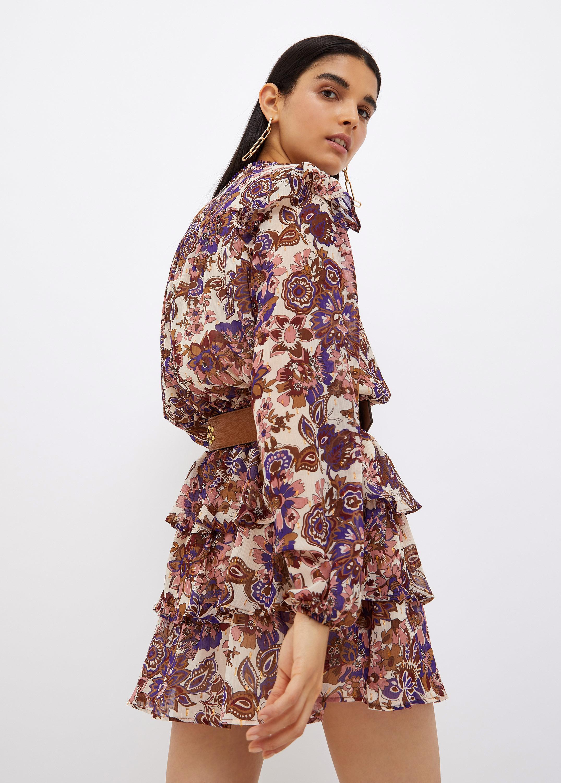Vestito donna  corto in fil coupé viola Liu-Jeans   WF1038T8726S9185