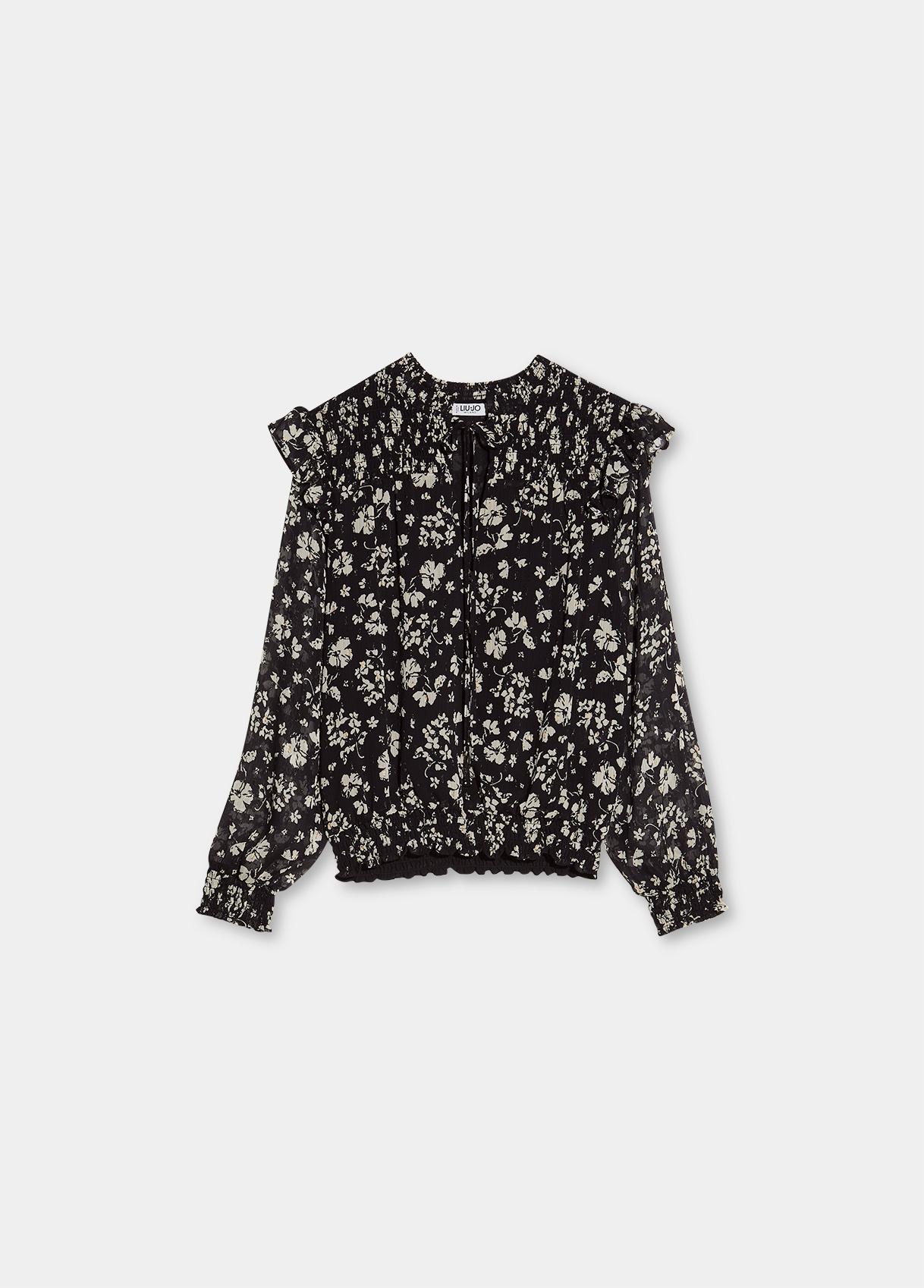 Blusa donna bianca e nera Liu-Jeans   WF1201T8726T9972