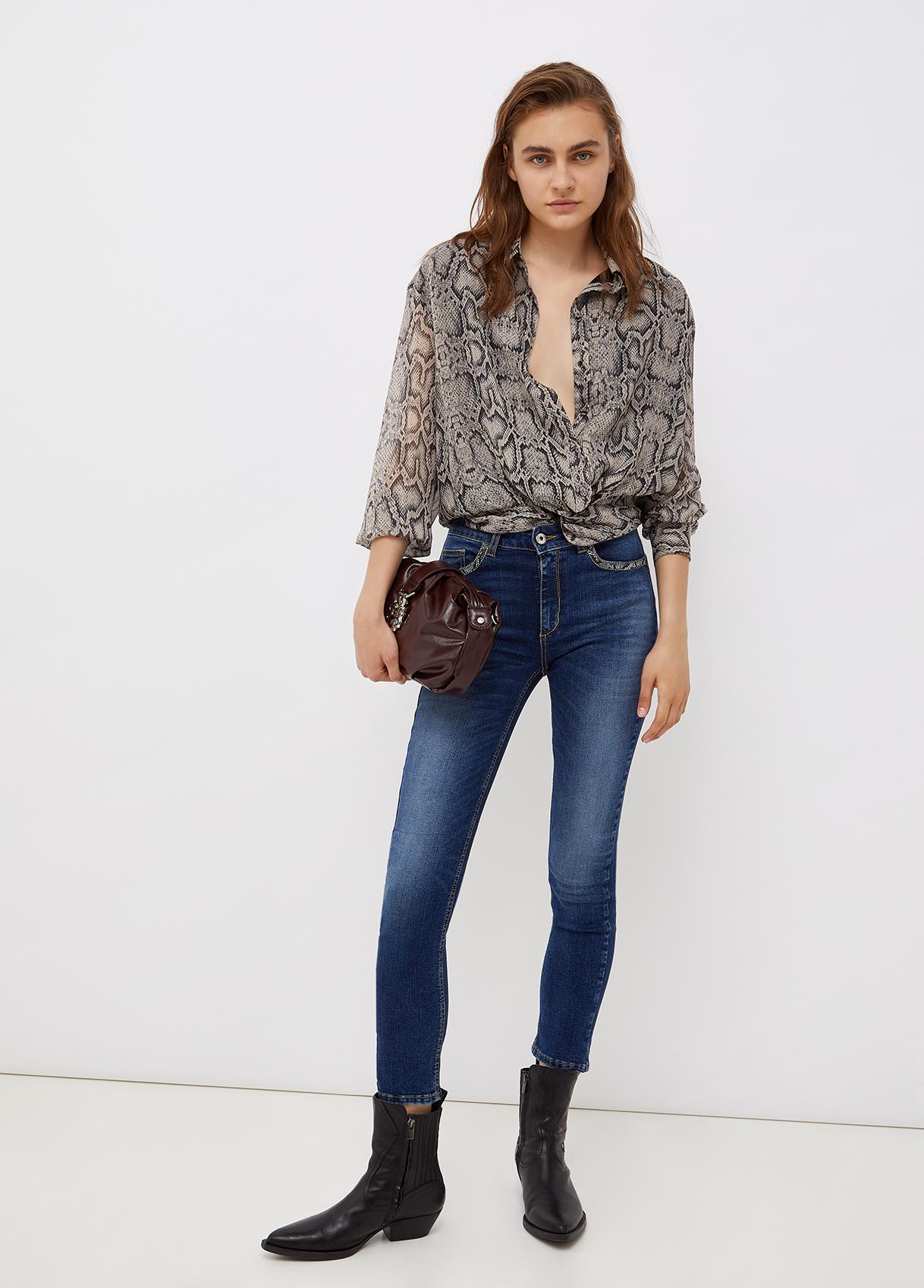 Camicia donna con stampa pitone Liu-Jeans   WF1511T5441T9976