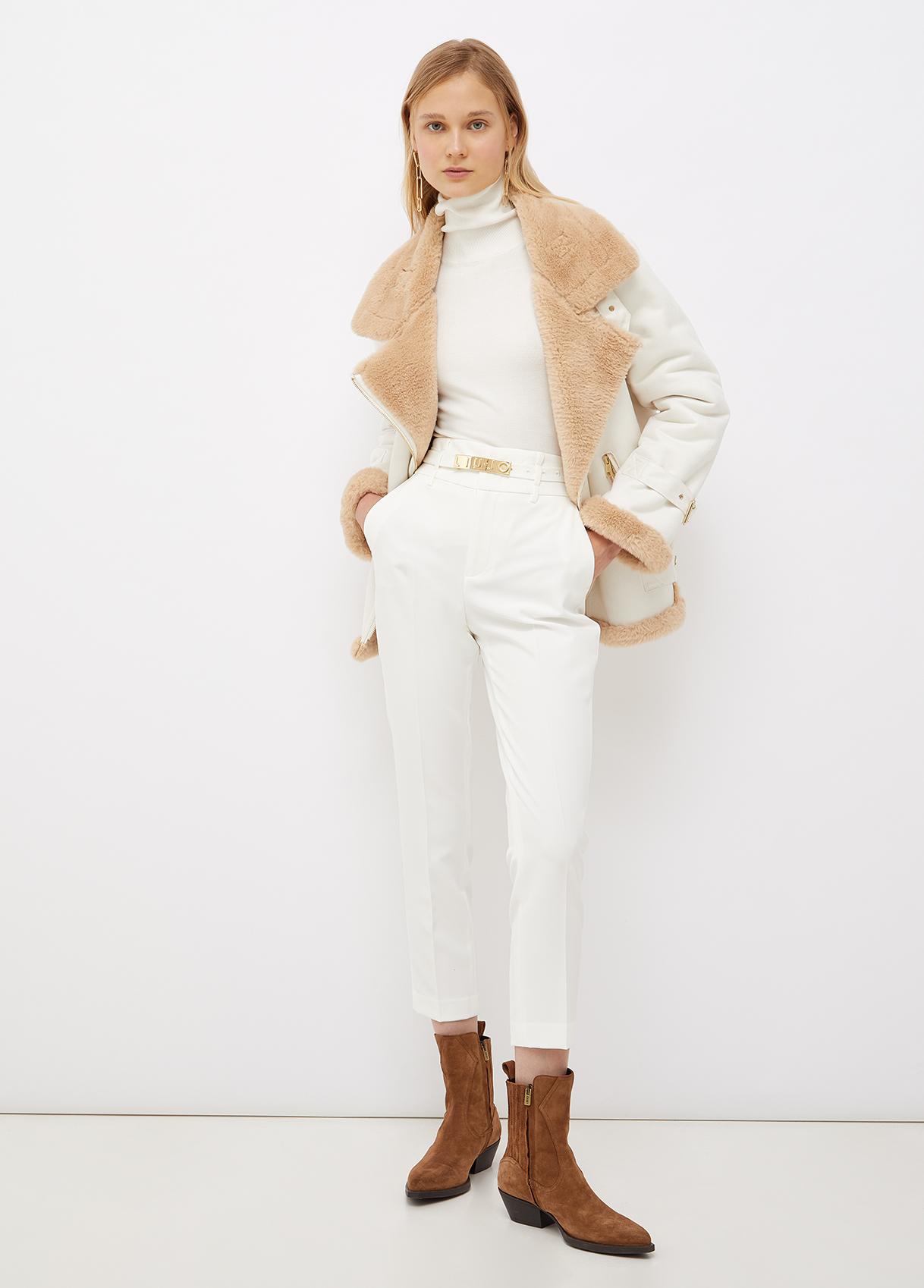 Dolcevita donna di colore bianco Liu-Jeans   WF1532MA49I10701
