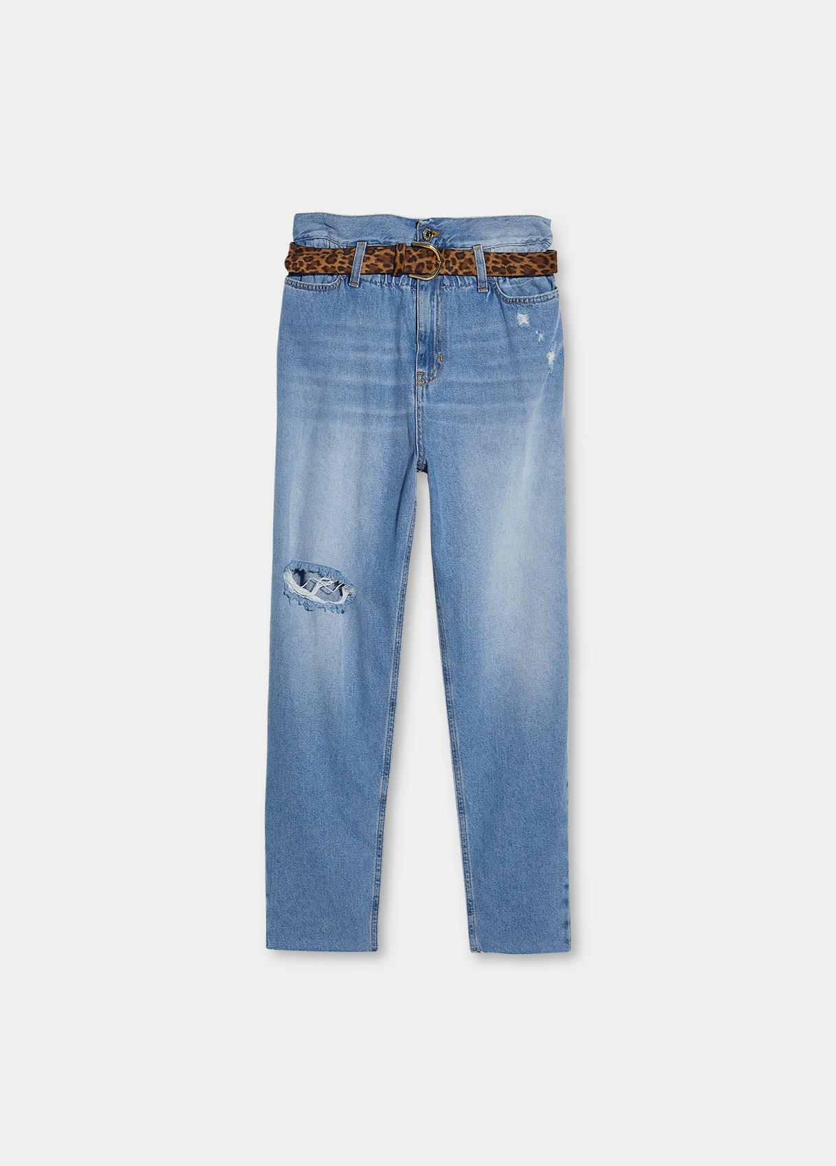 Jeans donna boyfriend a vita alta Liu.Jo Denim   UF1048D462378223
