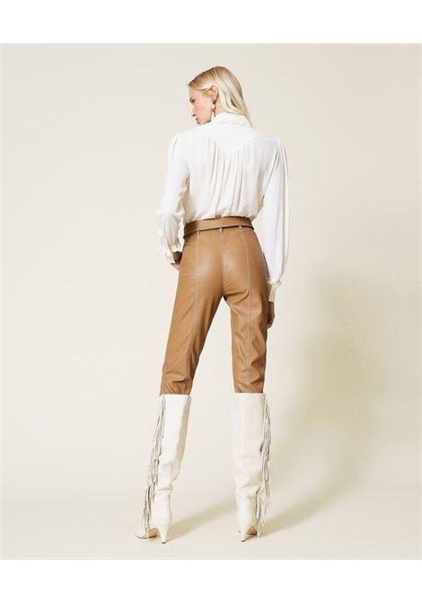 Pantaloni donna carrot colore marrone Rum Twinset | 212TP202106195