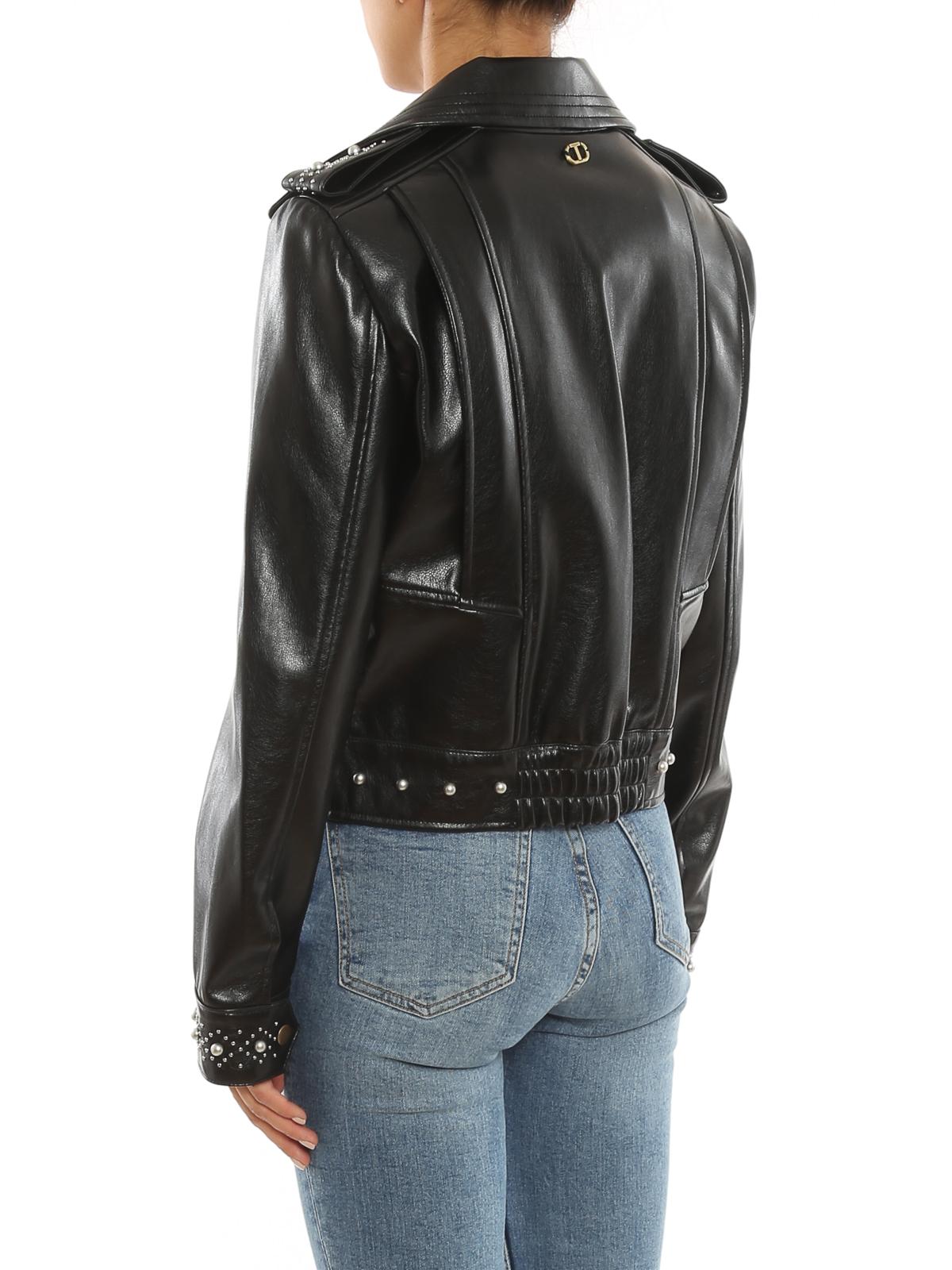 Giacca biker donna con borchie Twinset | 212TP262000006