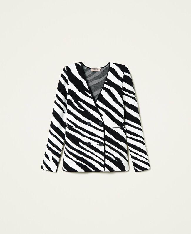 Giacca donna color bianco e nero Twinset   212TP323006351