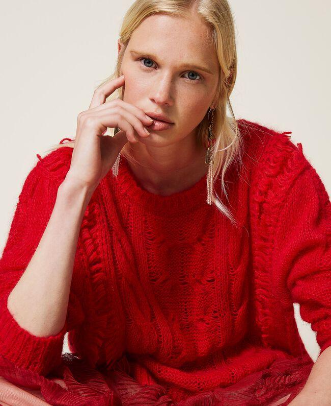 Maxi maglia donna rosso Geranium Twinset | 212TP341000725