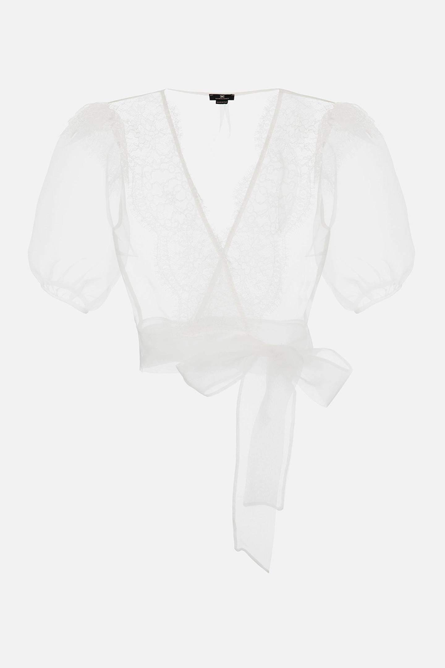 Camicia Donna Avorio Elisabetta Franchi   CA32111E2360
