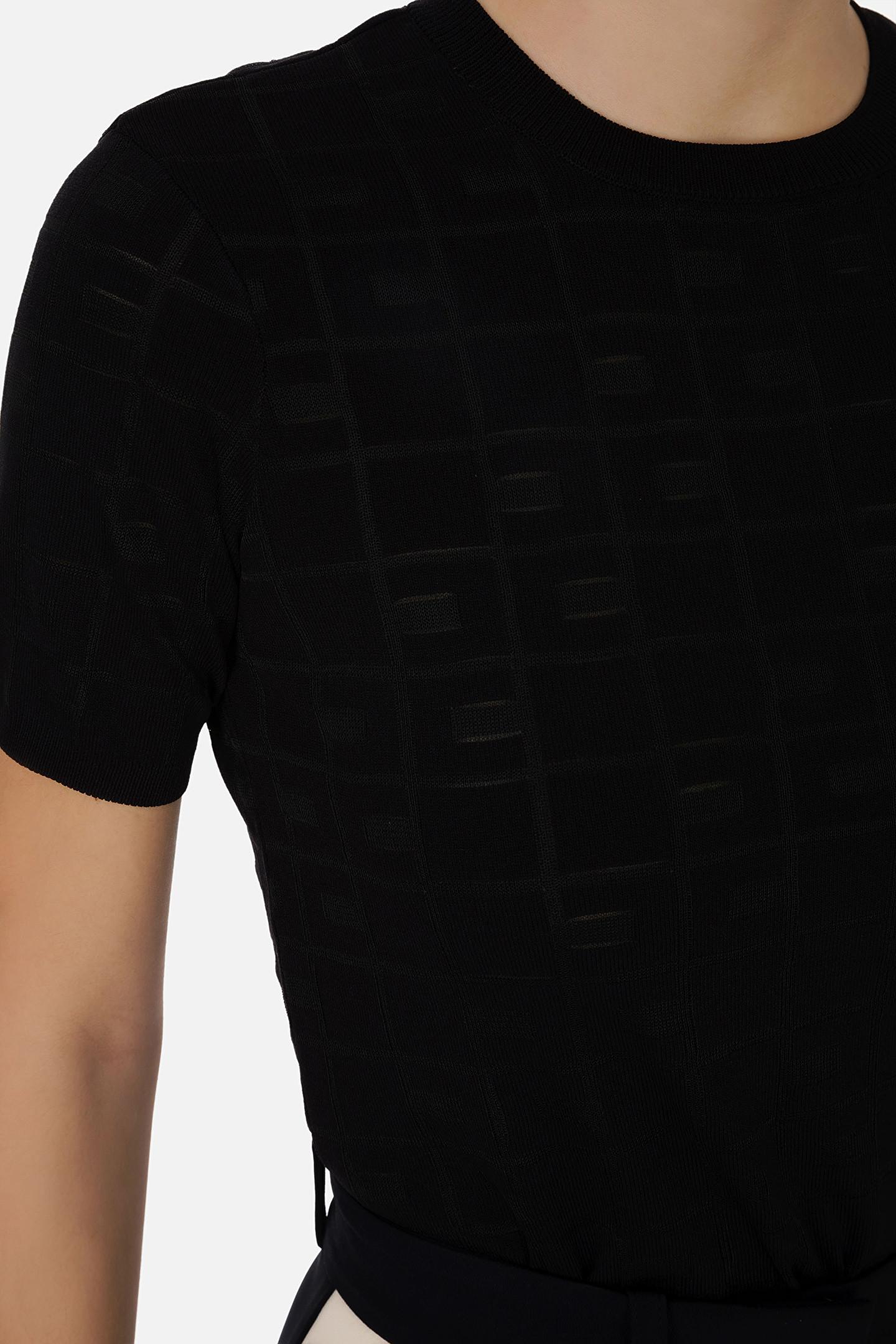 Maglia a girocollo nera Elisabetta Franchi | MK03A11E2110