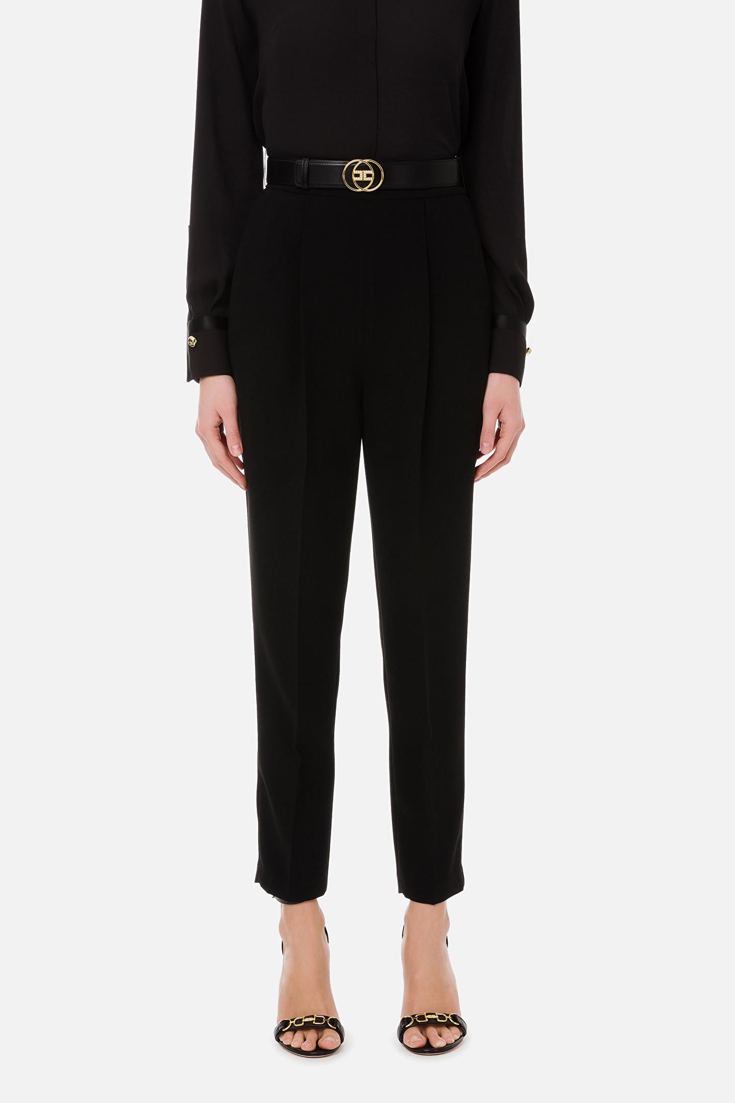 Pantalone skinny nero Elisabetta Franchi   PA38211E2110
