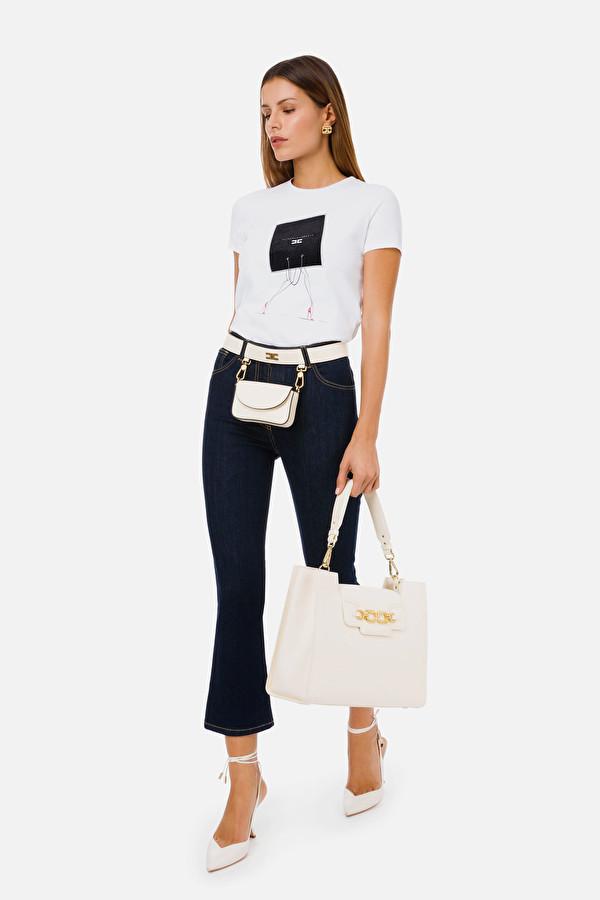 5 Tasche Donna Denim Elisabetta Franchi | PJ83S11E2104