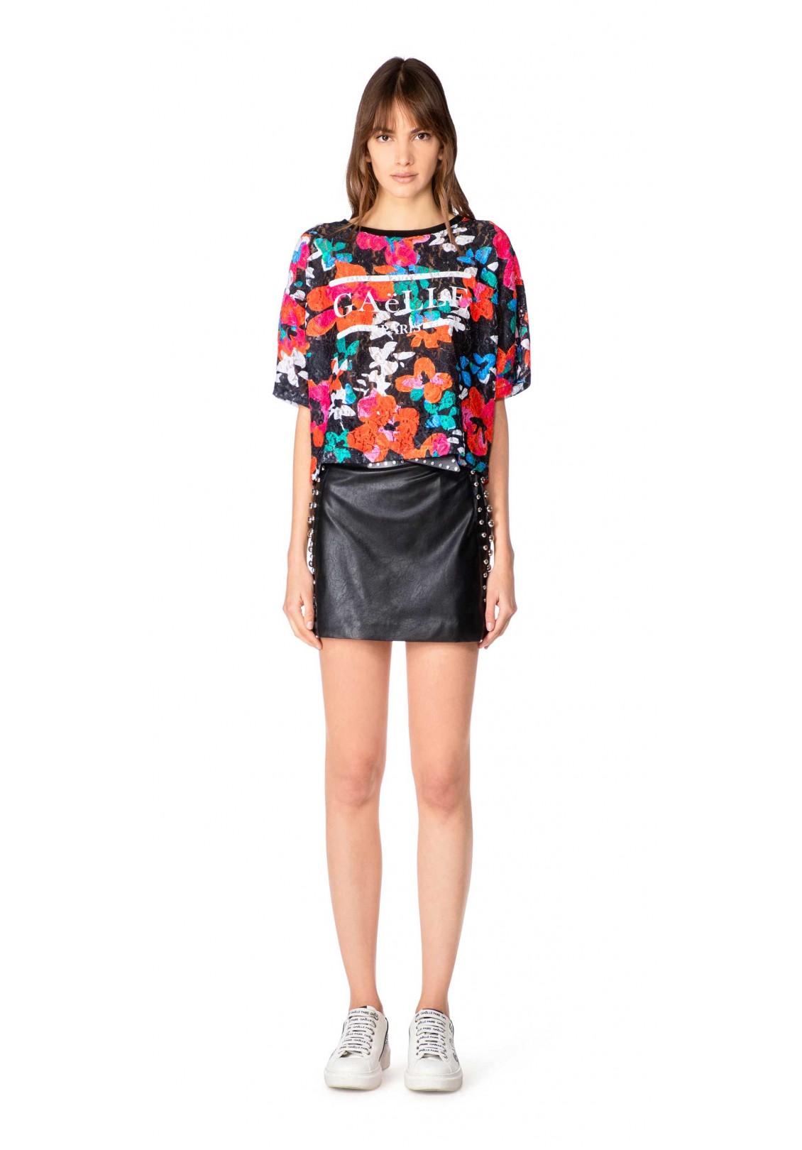 Gaelle T-shirt Donna Nero Gaelle | GBD8423NERO