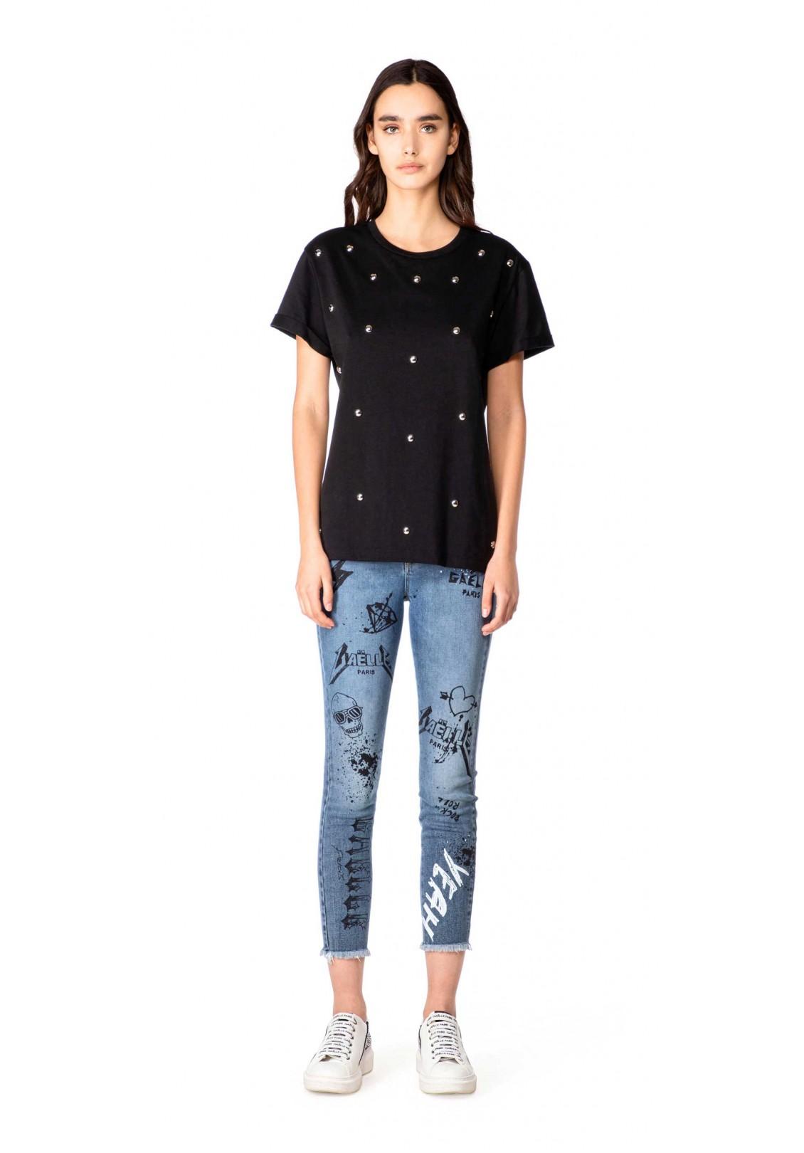 Gaelle T-shirt Donna Nero Gaelle   GBD8715NERO