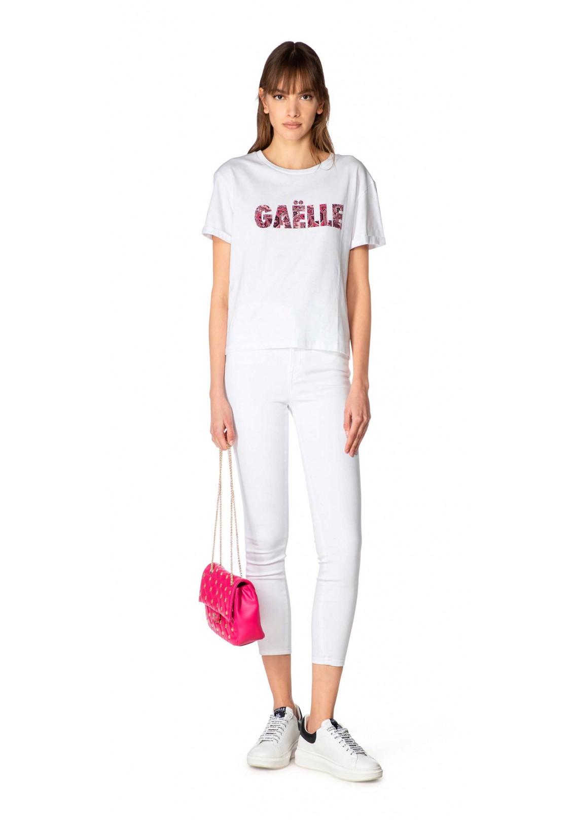 Gaelle T-shirt Donna Bianco Gaelle   GBD8873BIANCO