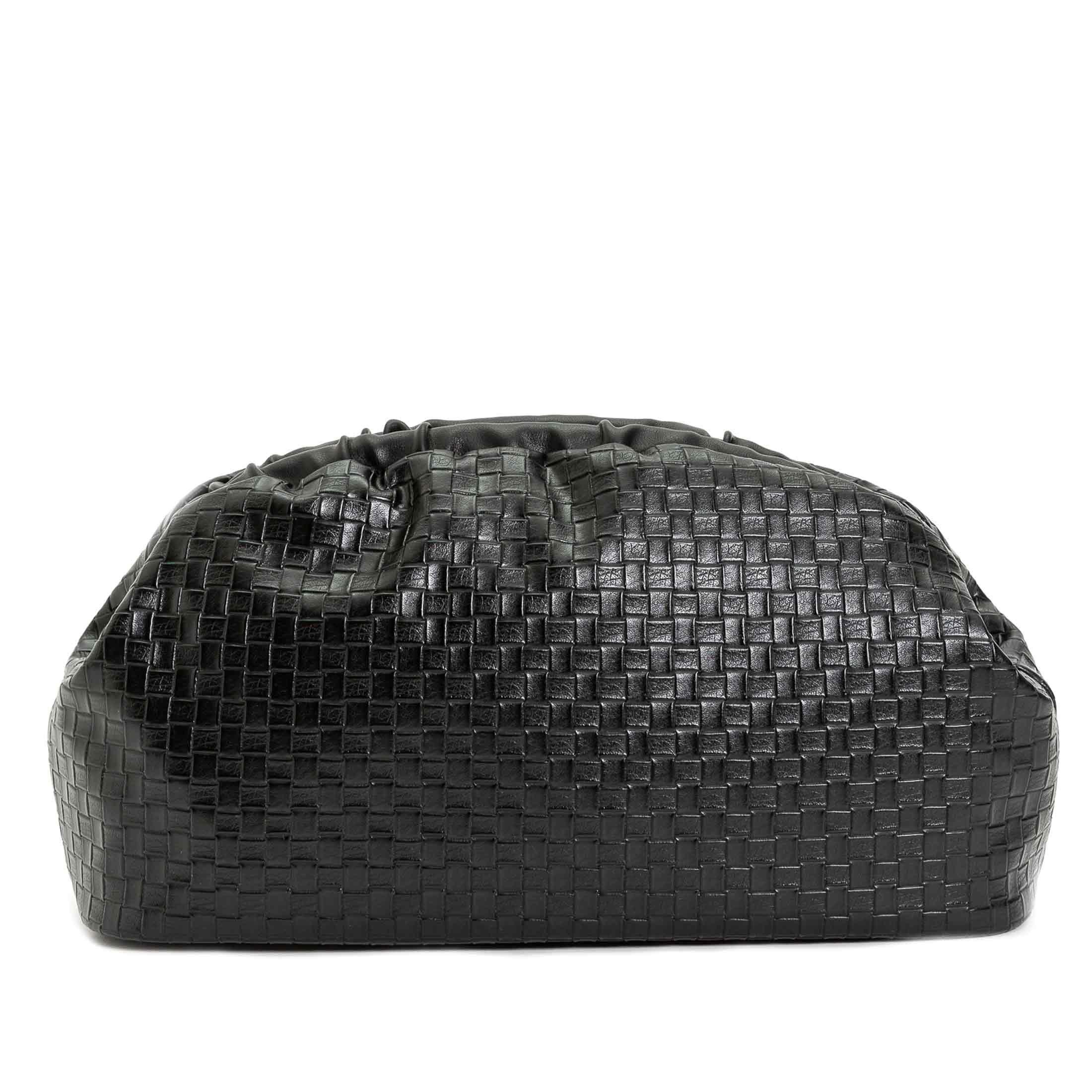 Phochette in pelle intrecciata nera Twinset Accessori | 211TD812100006