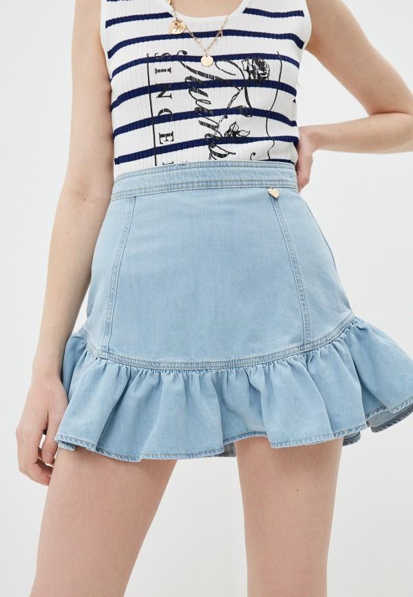 Minigonna in jeans con balza Twinset   211TT237503498