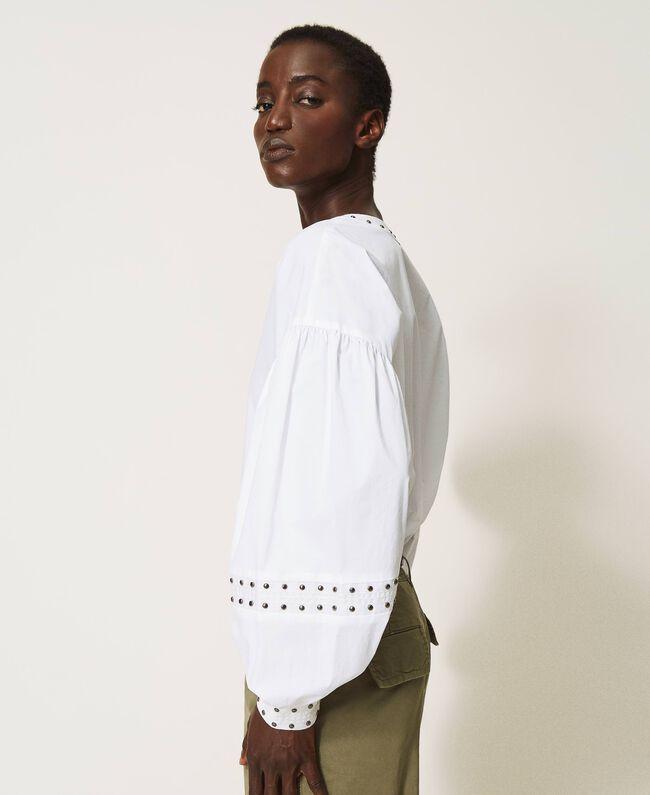 Blusa in popeline con borchie Twinset | 211TT248200001
