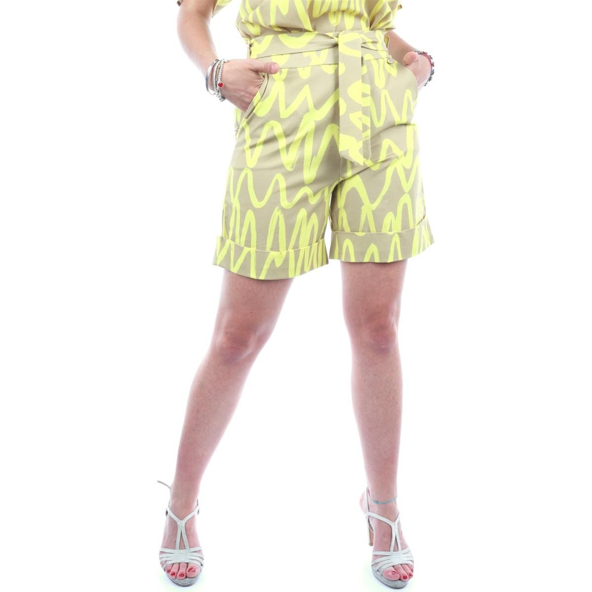 Short donna giallo casual Very Simple | 21PEV214GIALLO