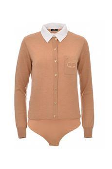 Body donna color cammello Elisabetta Franchi | BK41A16E2470