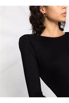 Body nero con scollatura sulla schiena Elisabetta Franchi   BO00216E2110