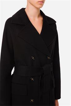 Cappotto donna Nero Elisabetta Franchi | CP33W16E2110