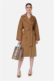 Cappotto donna marrone Elisabetta Franchi | CP33W16E2368