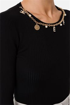 Maglia donna nera Elisabetta Franchi | MK20B16E2110