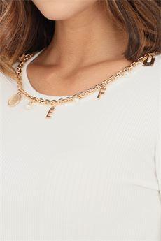 Maglia avorio da donna girocollo Elisabetta Franchi   MK20B16E2360