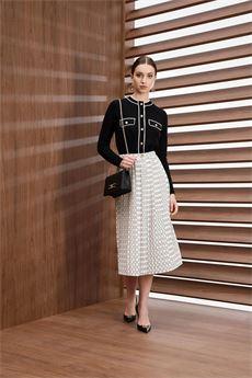Cardigan donna nero con decorazioni color burro Elisabetta Franchi | MK31S16E2685