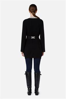 Cardigan donna nero Elisabetta Franchi | MK53S16E2685