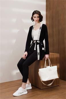 Cardigan donna nero Elisabetta Franchi   MK53S16E2685