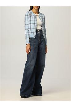 Cardigan donna con disegno tartan Elisabetta Franchi | MK62A16E2AC7