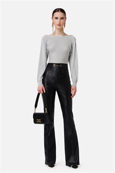 Pantalone donna nero Elisabetta Franchi | PA38016E2110