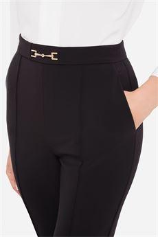 Pantalone donna nero Elisabetta Franchi | PA38216E2110