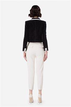 Pantalone donna color burro Elisabetta Franchi | PA39016E2193