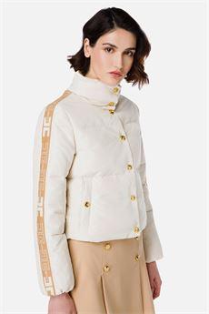 Piumino corto donna con logo Elisabetta Franchi | PI38H16E2AB1