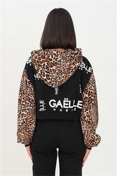 Felpa donna nera ed inserti Gaelle | GBD10176NERO